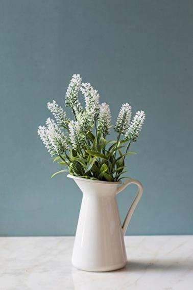 Arma House Beyaz Nemesia (Ömürsüz) Yapay Çiçek Beyaz